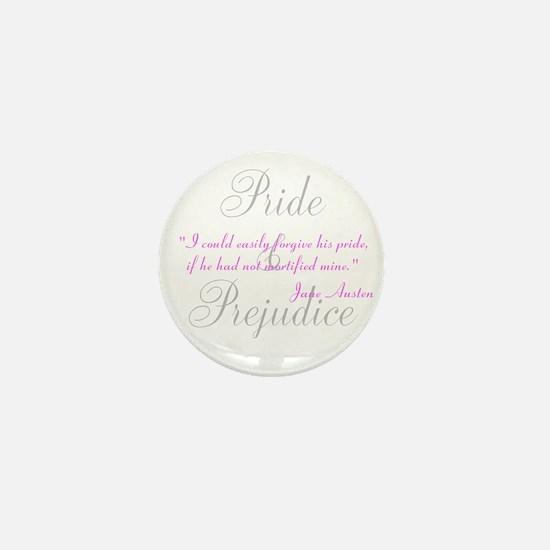Jane Austen Pride Quotes Pape Mini Button