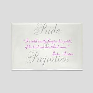 Jane Austen Pride Quotes Pape Rectangle Magnet