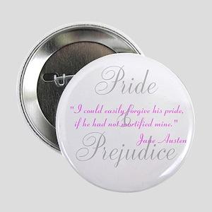 "Jane Austen Pride Quotes Pape 2.25"" Button"