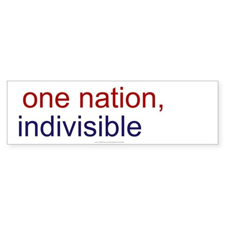 One Nation Indivisible Sticker (Bumper 50 pk)