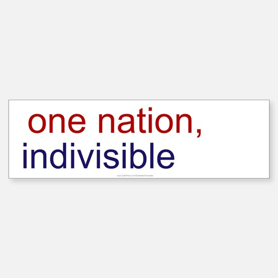 One Nation Indivisible Sticker (Bumper)