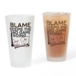 Blame Keeps Drinking Glass