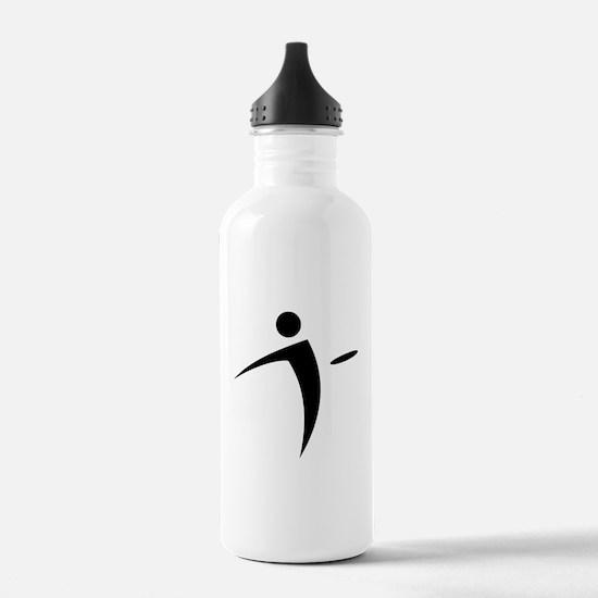 Nano Disc Golf BLACK Logo Water Bottle