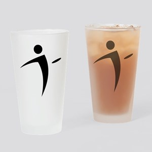 Nano Disc Golf BLACK Logo Drinking Glass