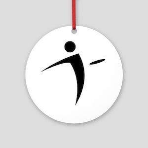 Nano Disc Golf BLACK Logo Ornament (Round)