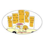 City Dog Sticker (Oval)