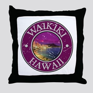 Waikiki, Hawaii Throw Pillow