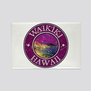 Waikiki, Hawaii Rectangle Magnet