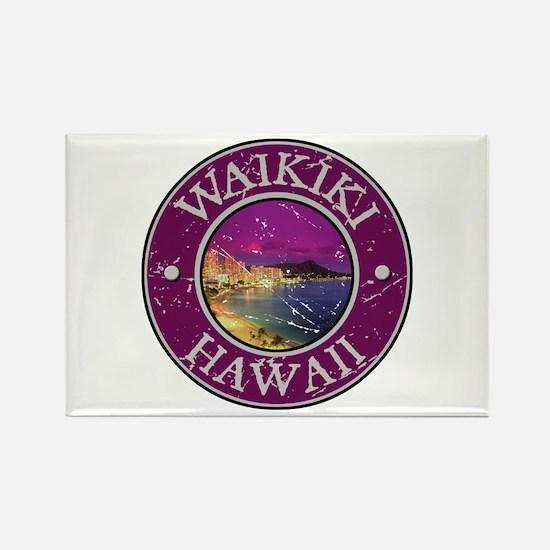 Waikiki, Hawaii Rectangle Magnet
