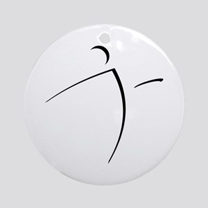 Nano Disc Golf SHADOW Logo Ornament (Round)