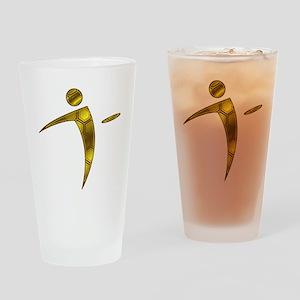 Nano Disc Golf HONEYCOMB Logo Drinking Glass