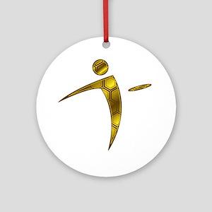 Nano Disc Golf HONEYCOMB Logo Ornament (Round)