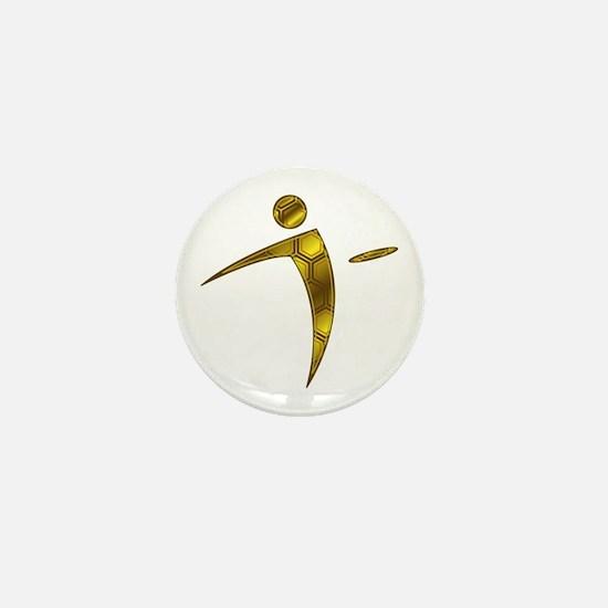 Nano Disc Golf HONEYCOMB Logo Mini Button