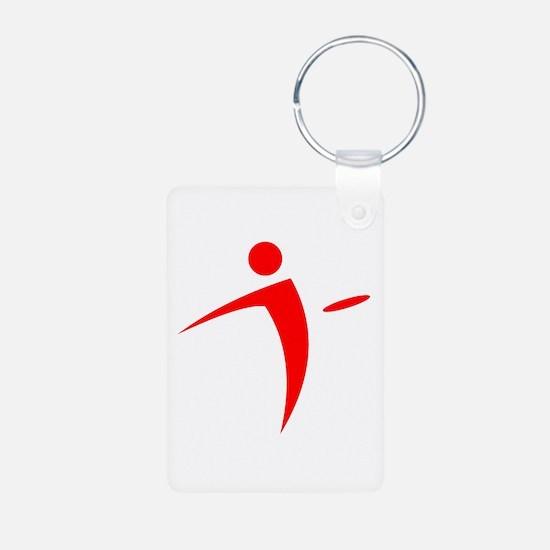 Nano Disc Golf RED Logo Keychains