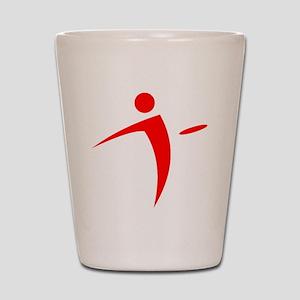 Nano Disc Golf RED Logo Shot Glass