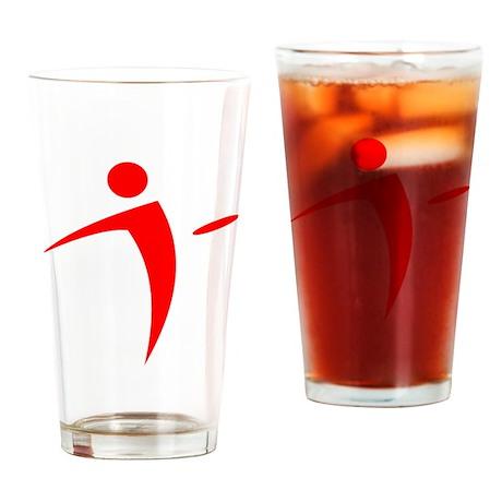 Nano Disc Golf RED Logo Drinking Glass