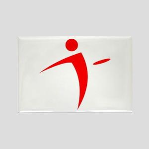Nano Disc Golf RED Logo Rectangle Magnet