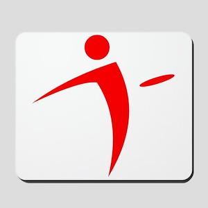Nano Disc Golf RED Logo Mousepad