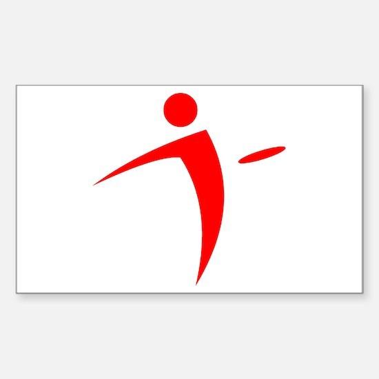 Nano Disc Golf RED Logo Sticker (Rectangle)