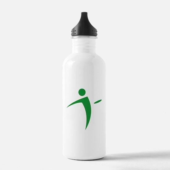 Nano Disc Golf GREEN Logo Water Bottle