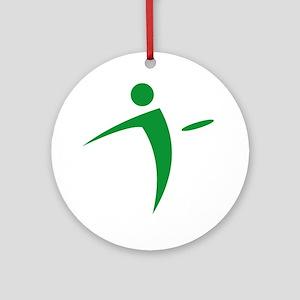 Nano Disc Golf GREEN Logo Ornament (Round)