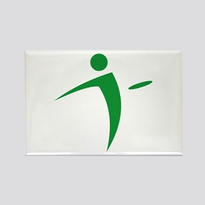 Nano Disc Golf GREEN Logo Rectangle Magnet