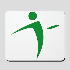 Nano Disc Golf GREEN Logo Mousepad