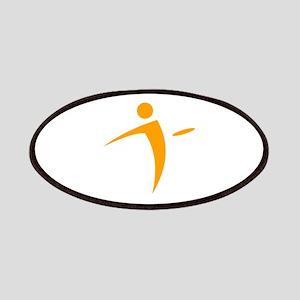 Nano Disc Golf ORANGE Logo Patches