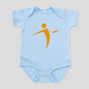 Nano Disc Golf ORANGE Logo Infant Bodysuit