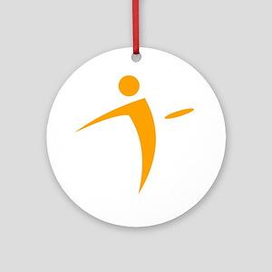 Nano Disc Golf ORANGE Logo Ornament (Round)