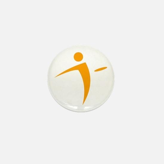 Nano Disc Golf ORANGE Logo Mini Button