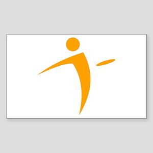Nano Disc Golf ORANGE Logo Sticker (Rectangle)