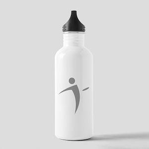 Nano Disc Golf GRAY Logo Stainless Water Bottle 1.