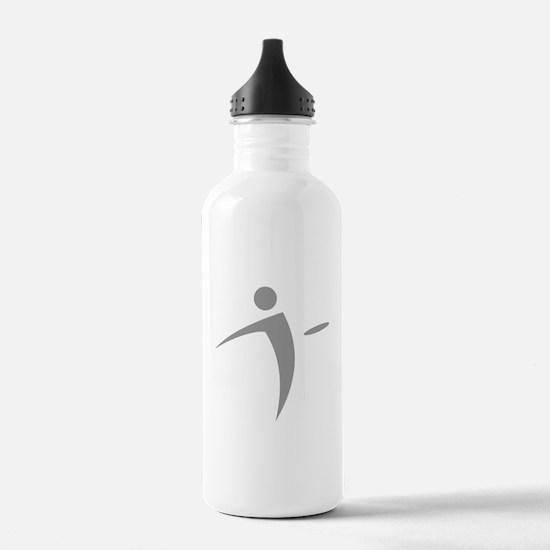 Nano Disc Golf GRAY Logo Water Bottle