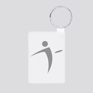 Nano Disc Golf GRAY Logo Aluminum Photo Keychain