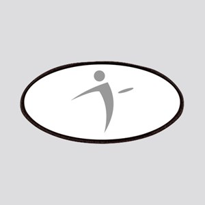 Nano Disc Golf GRAY Logo Patches