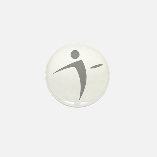Nano Disc Golf GRAY Logo Mini Button
