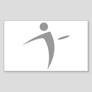 Nano Disc Golf GRAY Logo Sticker (Rectangle)