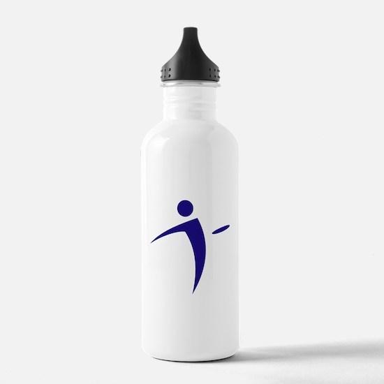 Nano Disc Golf BLUE Logo Water Bottle