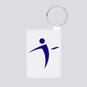 Nano Disc Golf BLUE Logo Aluminum Photo Keychain