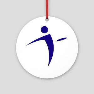 Nano Disc Golf BLUE Logo Ornament (Round)