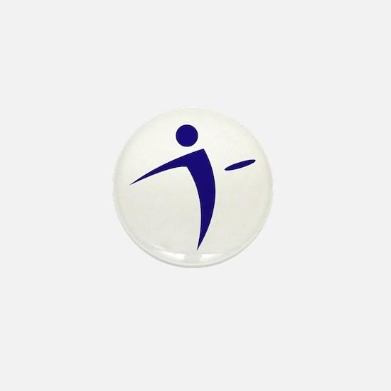 Nano Disc Golf BLUE Logo Mini Button