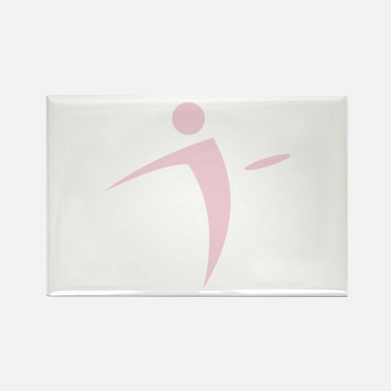Nano Disc Golf BABY PINK Logo Rectangle Magnet