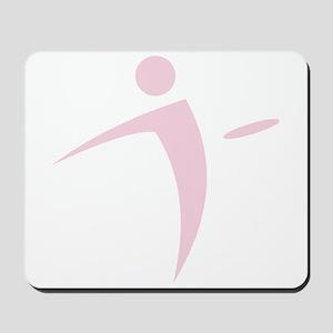 Nano Disc Golf BABY PINK Logo Mousepad