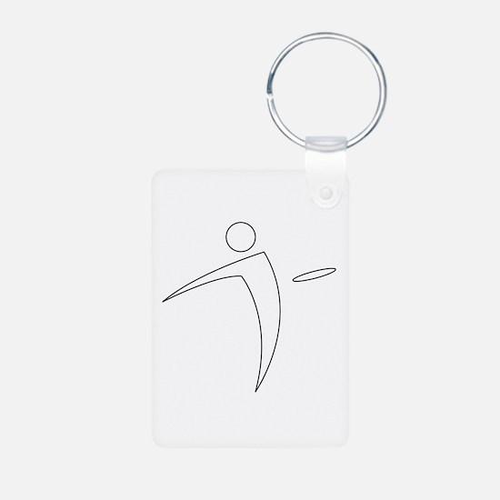 Nano Disc Golf WHITE Logo Keychains