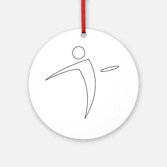 Nano Disc Golf WHITE Logo Ornament (Round)