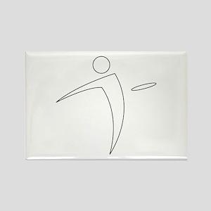 Nano Disc Golf WHITE Logo Rectangle Magnet