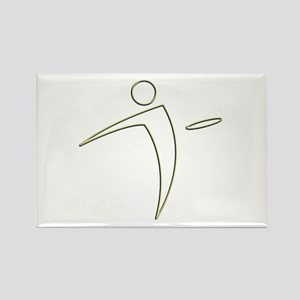 Nano Disc Golf GOLD TRIM Logo Rectangle Magnet