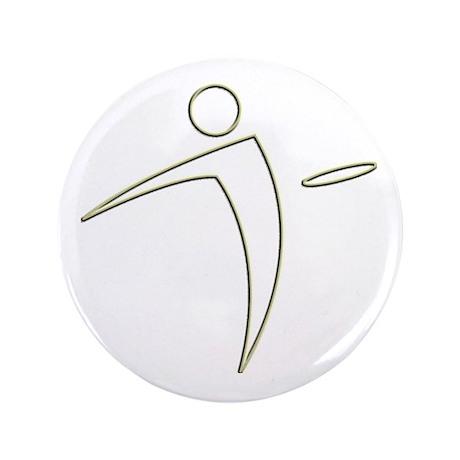 "Nano Disc Golf GOLD TRIM Logo 3.5"" Button"