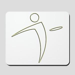 Nano Disc Golf GOLD TRIM Logo Mousepad